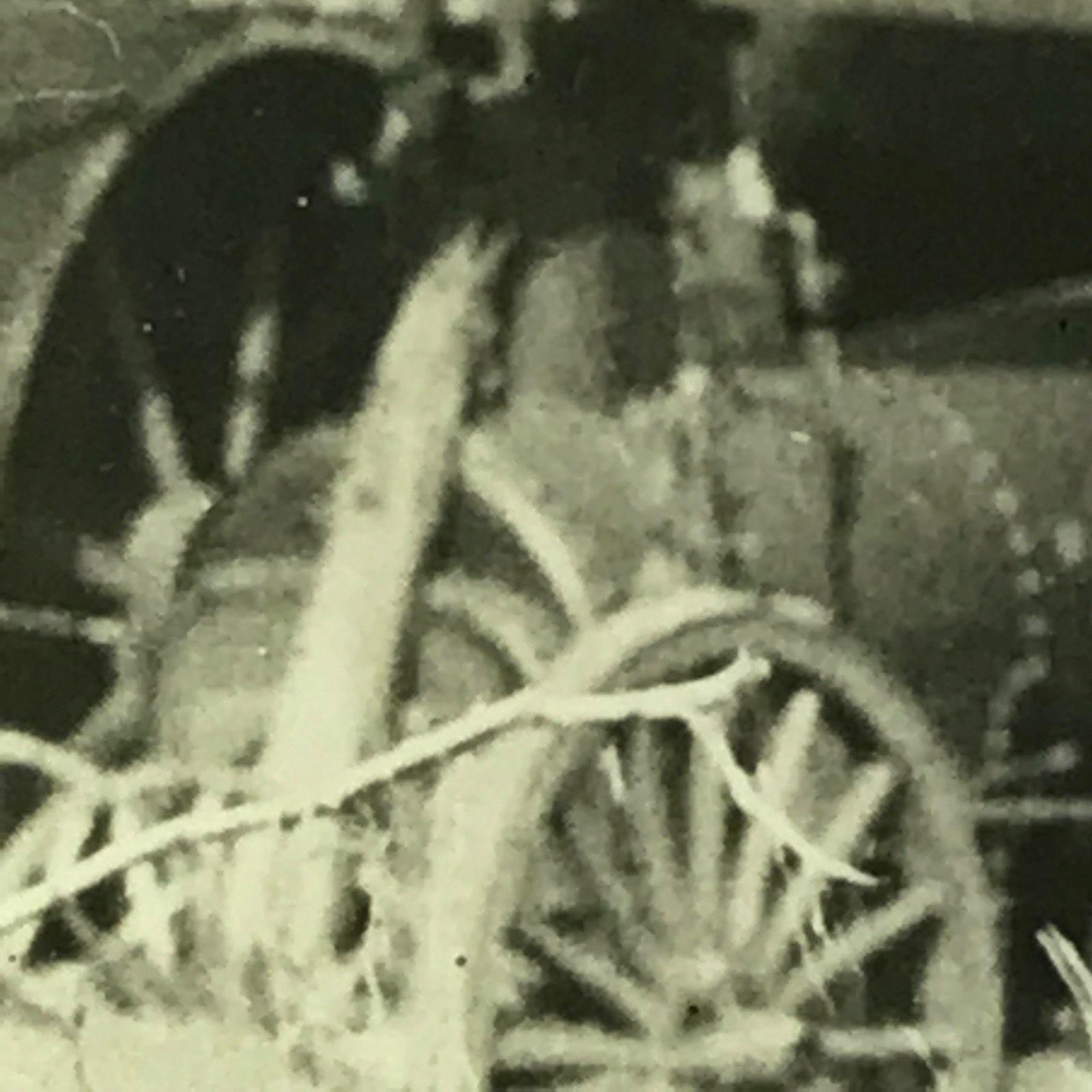 Vtg Magic Lantern Glass Slide Photo Barn Collapse On Farm Machines Tractor