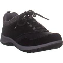 Easy Spirit Pulltab Casual Walking Sneakers, Black, 7 US - $38.39