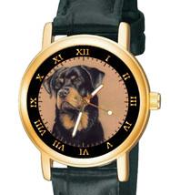 VINTAGE ROTTWEILER ROTTY SEPIA DOG ART COLLECTIBLE UNISEX 30mm BRASS WRI... - $59.99