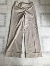 Ann Taylor Loft Woman's Julie Beige Wide Leg Dress Pants Size 2 - $22.18