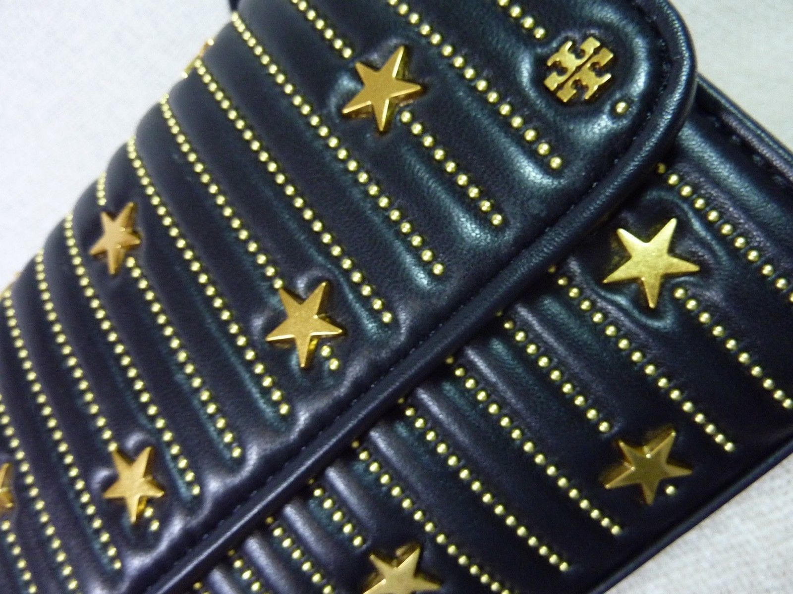 NWT Tory Burch Black Fleming Star-Stud Small Convertible Bag $558 image 7