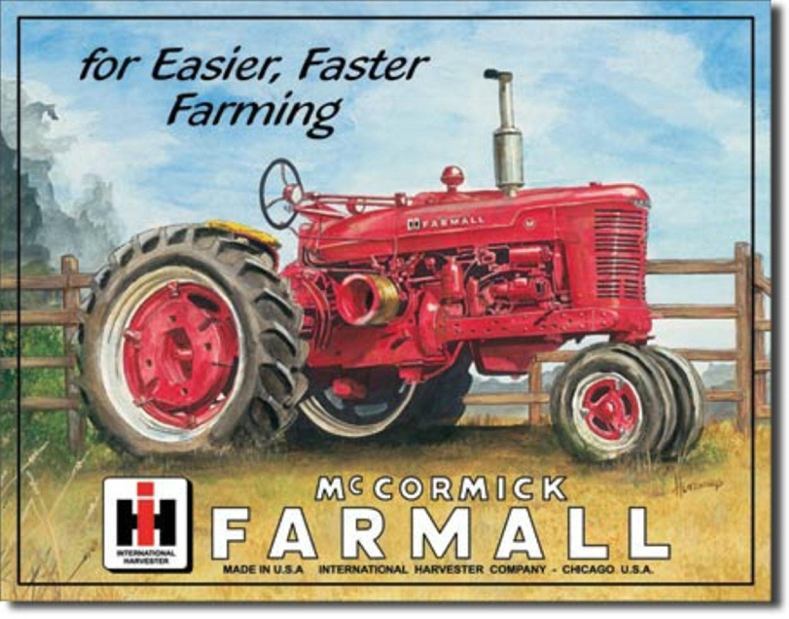 Farmall International Harvester IH Tractor  Metal Sign Tin New Vintage Style 825