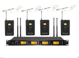 UHF 4x Omnidirectional Hook Headset Diversity Wireless Microphone Mic Sy... - $415.80