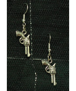 Cute Little Pistol Dangly Gun Rockabilly Earrings made with Nickel Free ... - $5.40