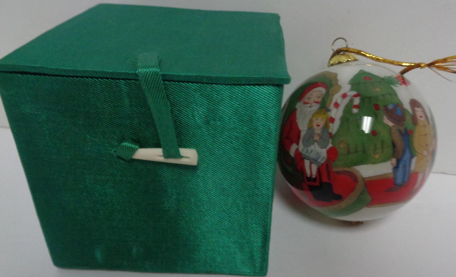 LI BIEN Ornament NIB Inside Painting Tradition 1998 Santa's Lap