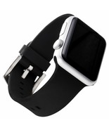 TWO NEW!!! WITH it Black Silicon  Designer Apple Watch 42mm Strap - you ... - $11.29