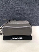 AUTHENTIC CHANEL Gray Quilted Calfskin Medium Gabrielle Hobo Bag  image 5