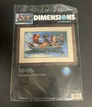 Dimensions Gone Fishin' Needlepoint Kit 2490 Cats Fishing Boat Bryan Moo... - $56.09