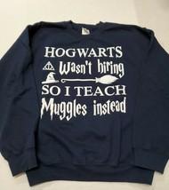 Harry Potter Hogwarts Muggles Pullover Sweatshirt Medium Excellent Condi... - $16.82