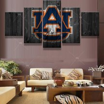 5 Pcs HD Printed Auburn Tigers Team Sport Game UA Picture Canvas Wall Pa... - $47.99+