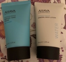 Ahava Dead Sea Water Mineral Body Lotion & Hand Cream Package Travel Size - $12.95