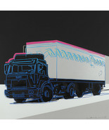 "Andy Warhol Oil Painting on Canvas Pop art wall decor White Truck 28x28"" - $15.83+"