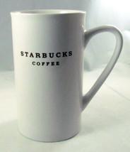 "Starbucks White Ceramic 5"" Tall Coffee Mug - $19.79"