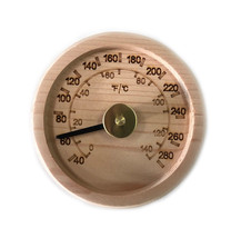 Free Shipping! Engraved Cedar Round Thermometer C-F (4''), sauna accesso... - $22.43