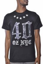 1183ml Quaranta Ounce New York Rose E Stars T-Shirt Nwt image 1