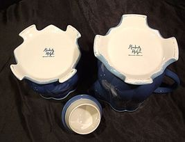 Kimberly Hodges Blue Pitcher and Container with Lid AA18-1254 Vintage Hallmark I image 6
