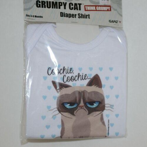 Ganz HGC13207 Grumpy Cat Diaper Shirt Fits 3 to 6 Months 100 Precent Cotton