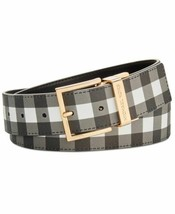 Michael Kors Reversible Gingham Belt (Black/Gold, XS) - $41.56