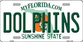 NFL Miami Dolphins  Novelty Metal License Plate State Background Car Truck - $10.35