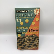 Professor Puzzle Wooden Checkers #14 - $12.86
