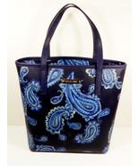 MK Michael Kors Emry Admiral Medium Zip Top Tote Shoulder Bag Purse Blue... - $147.26