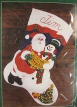 "Bucilla Santa & Snowman Felt Stocking Sealed Kit 15"" Christmas 32710 NOS... - $17.95"