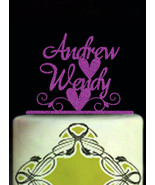 Buythrow® Customized Wedding Cake Topper Personalized For Wedding Glitter - $26.68