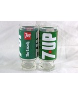 Seven Up Co. Set Of 2 The Uncola Wet And Wild Glasses - $15.29