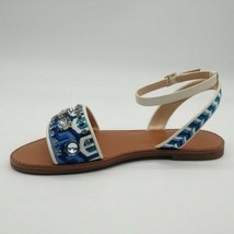 Vince Camuto Womens Akitta Blue/Vanilla Ankle Strap Sandals Sz 7.5M NEW - $49.49