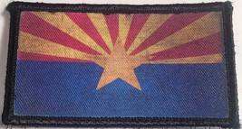 distressed arizona flag hook and loop embroidered patch pack of 4 - $22.55