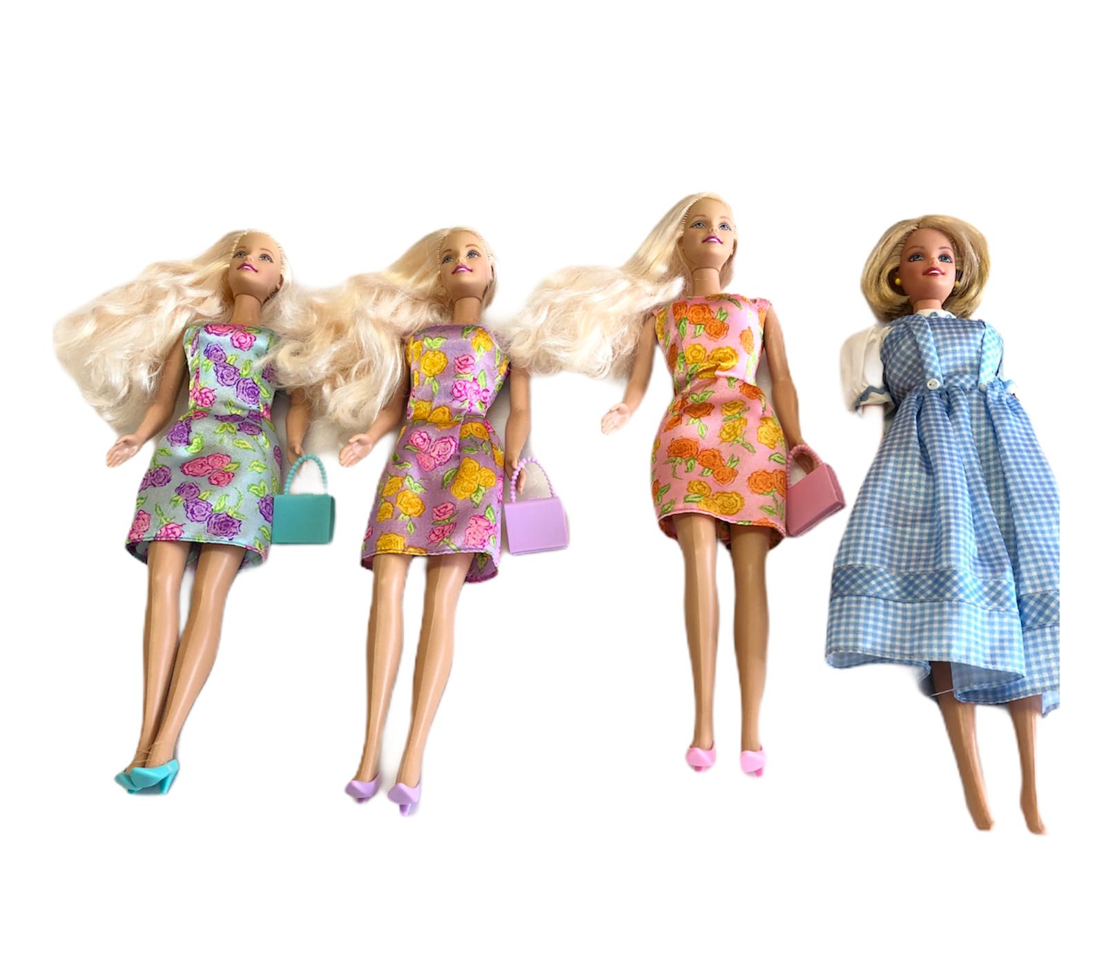 """4 Barbie Doll 12"""" Ear rings 1998 Head/1966 Body-Mattel, 1 1966 body w/1976 head - $49.49"""