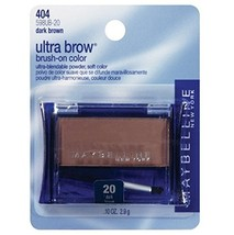 Maybelline New York Ultra-brow Brow Powder, 20 Dark Brown, 0.1 Ounce, Pa... - $23.97