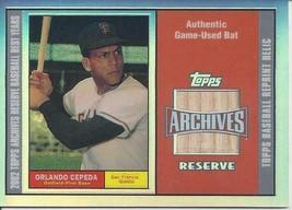 2002 Topps Archives Reserve Bat Relics Orlando Cepeda OC Giants - $6.00