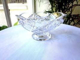 Gorham Crystal Pedestal Centerpiece Bowl - $28.90
