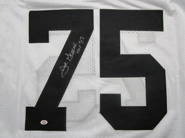 JOE GREENE / NFL HALL OF FAME / AUTOGRAPHED SEELERS WHITE THROWBACK JERSEY / COA image 3