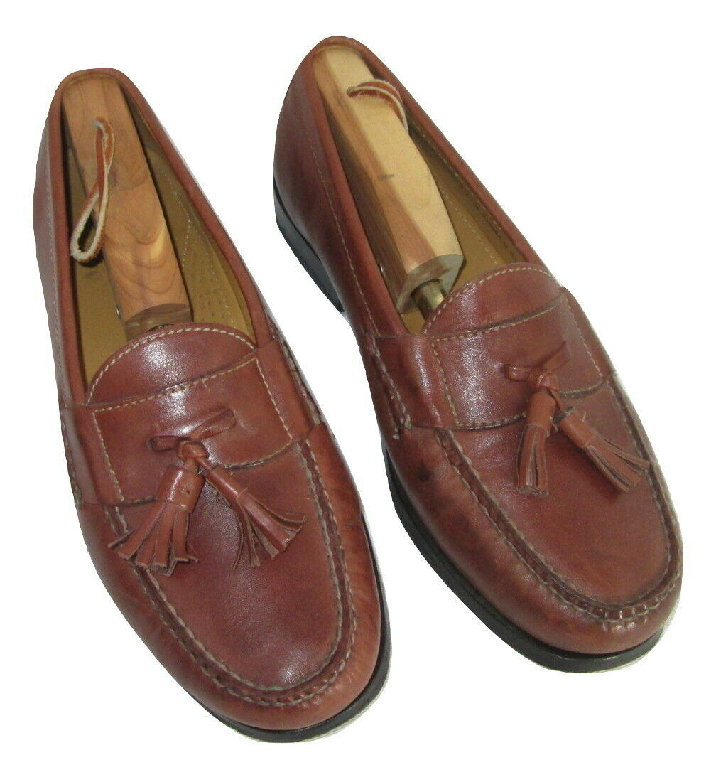 Cole Haan Shoes Size 7.5 Loafers Mens Brown Leather Tassels C06982 India  image 3