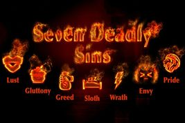 Haunted Seven Deadly Sins Curse Pain Suffering Destruction Harm Lonely O... - $34.00