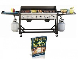8-Burner Commercial Gas Grills Stainless Steel Portable For Outdoor On C... - $668.80