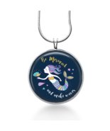 Be Mermaid Necklace - Beach Pendant - Ocean Jewelry - Nautical - $18.32
