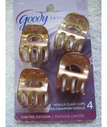 4 Goody Shiny Blonde Noelle Claw Clips Small Plastic Jaw Hair Clips Open... - $12.00