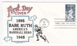 BABE RUTH #2046 CHICAGO, IL JULY 6, 1983 ARTOPAGES CACHET D-158 - $2.98