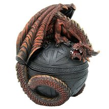 RED DRAGON CELTIC BOX TRINKET BOX - $32.66