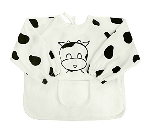 Pure Cotton Waterproof Baby Bib Overclothes Kids Painting Smock, 2-3 Years