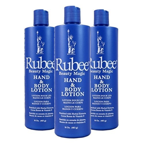 Primary image for Rubee Hand & Body Lotion 16 oz. (3-Pack) with a Free 2 oz bottle