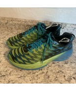 HOKA One One CLAYTON 2 Blue YELLOW running Shoes Men's SIZE 11 - $39.55