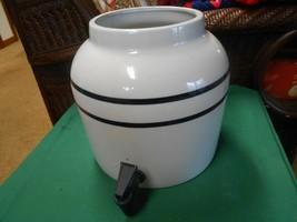 Great CROCK Pottery Liquid Dispenser with Spout - $29.29