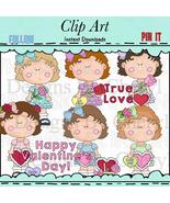 Little Ladies Valentines Day Clip Art - $1.35