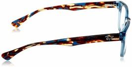 Unisex Ray Ban RX5286 8024 Rectangle Eyeglass Frame - Blue, 51mm image 2