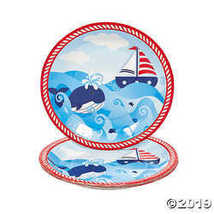 1st Birthday Sailor Paper Dinner Plates  - $3.61