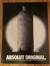 Absolut Original Magazine Ad - $3.49